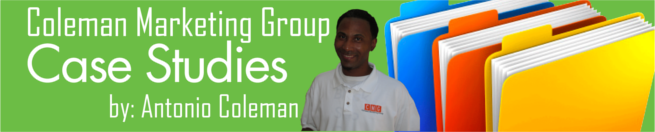 Coleman Marketing Group Case Study Banner by Antonio Coleman