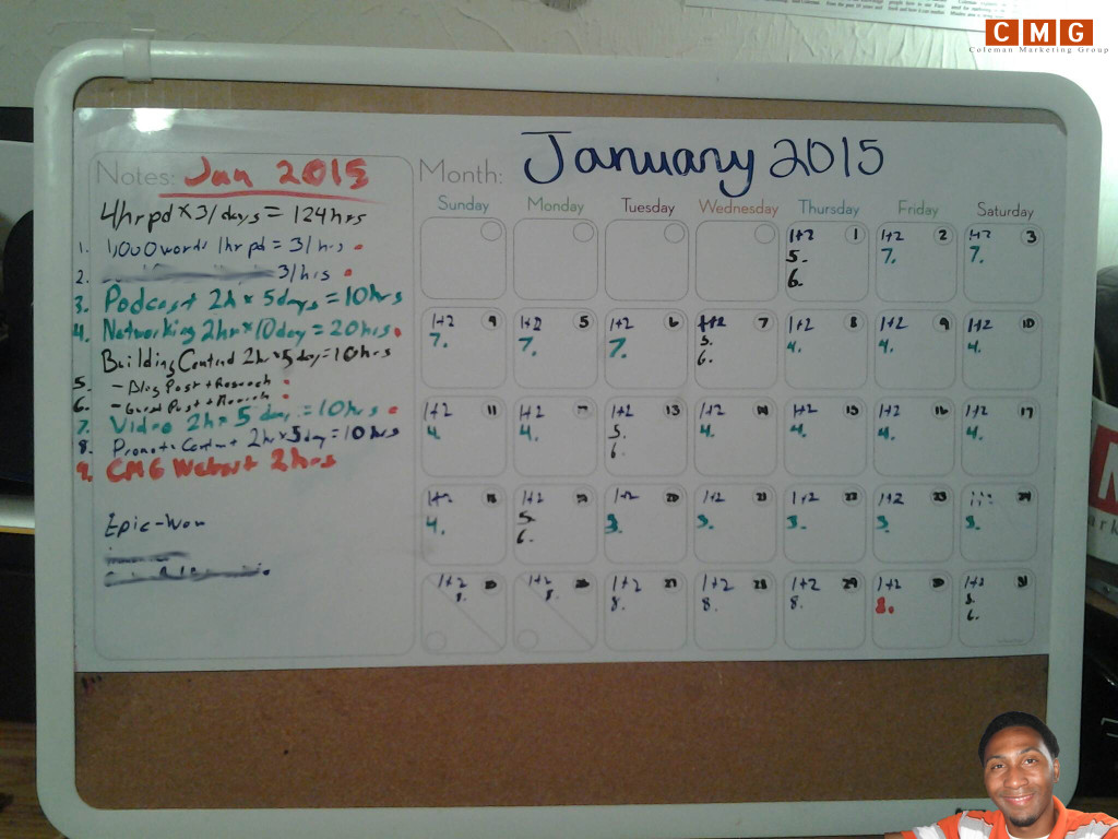 my 31 day calender by coleman marketing group