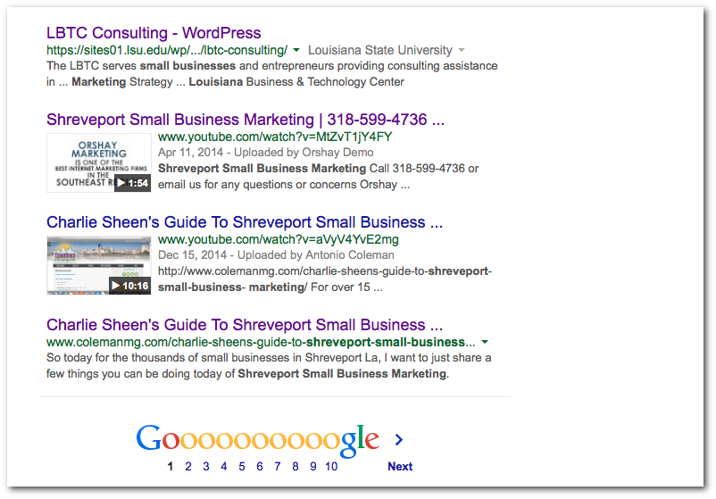 Shreveport Small Business Marketing