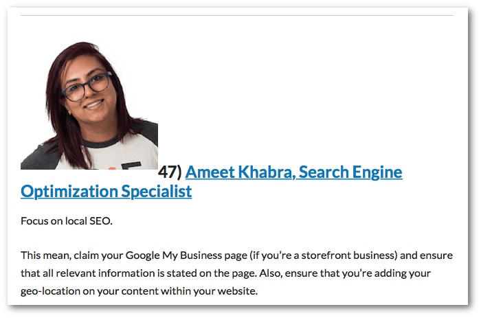 Ameet Khabra, Search Engine Optimization Specialist
