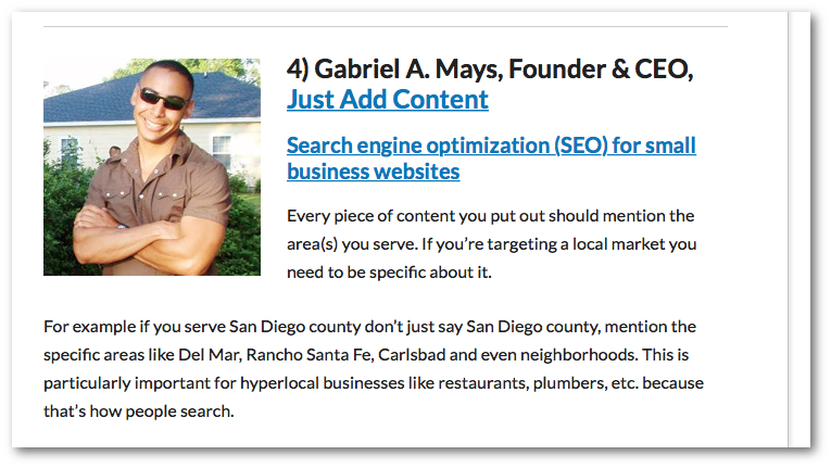Gabriel A. Mays, Founder & CEO, Just Add Content