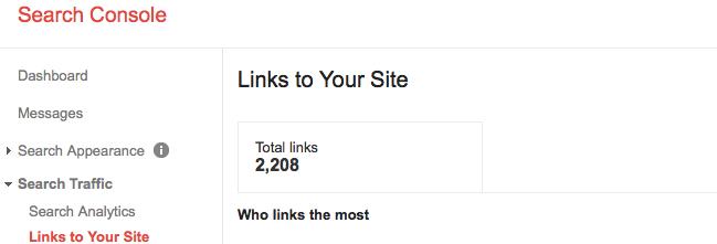 Coleman Marketing Group Google Webmaster Total Backlinks